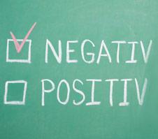positiv oder negativ?